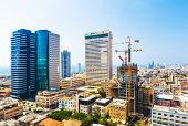 Panorama Of The City Tel Aviv Streets