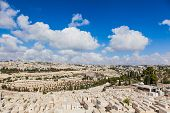 Mount Of Olives Cemetery Panorama