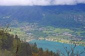 picture of annecy  - Lake Annecy in the French Alps in France