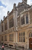 LONDON, UK - JUNE 30, 2014: Guildhall Yard buildings, originated 1440