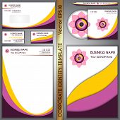 Vector corporate brand yellow and purple template