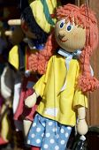 detail of a girl marionette