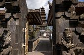 BALI, INDONESIA - SEPTEMBER 20, 2014: Many private temples and family altars are found inside the Besakih Temple Complex. It is the largest and most important Hindu temple on Bali Island.