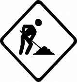 Work Road sign
