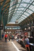 LONDON, UK - 22 JULY, 2014: Covent Garden market, one of the main tourist attractions in London
