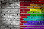 Dark Brick Wall - Lgbt Rights - Malta