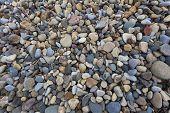 Textured Pebbled Beach Background