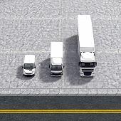 Business Logistic Transportation Service Illustration