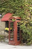 Old style telephone booth