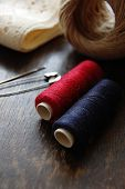 Red and blue Thread and twine