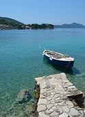 Boat Moored Kolocep Island