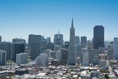 The skyline of San Francisco