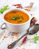 Soup of bulgur and lentils