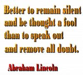 Fool Quote - Abraham Lincoln