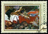 Vintage  Postage Stamp. Still Life, By Frans Snyders.