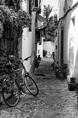 Typical Old Mediterranean Alley Between Old Houses