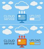 Cloud Service Concept Vector Illustration.