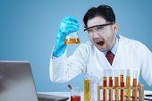 Mad Scientist In Laboratory