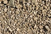 Natural Texture. Closeup Of Gravel