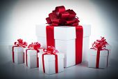 One White Gift Box And White Gift Boxes