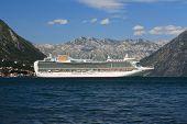 Beautiful White Passenger Ship