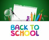 Back to School Background with School Items