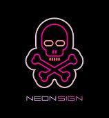 Skull And Crossbones Neon Sign