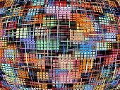 Checkered Multicolored Pattern As Abstract Background.