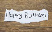 Written Happy Birthday