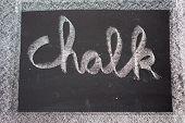 Chalk Written On Chalkboard