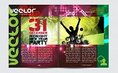 Template music event magazine. Vector