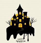 stock photo of happy halloween  - Happy Halloween design background - JPG