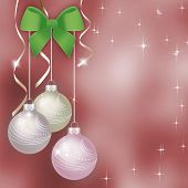 Pink Christmas Background With Christmas Balls