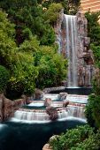 LAS VEGAS - MAR 4: Waterfall and Horticulture in front of Wynn Hotel, which is featured as a Top U.S. Hotel by the Zagat Survey, March 4, 2010 in Las Vegas, Nevada.