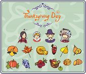 Thanksgiving simple Color Icons