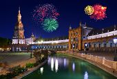 Fireworks In Sevilla Spain