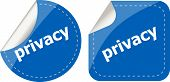 Stickers Label Set Business Tag With Privacy Word