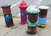 Painted hydrant in Astoria section in Queens