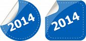 2014 On Stickers Button Set, Business Label