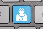 Doctor Icon on Keyboard