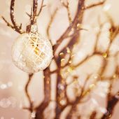 White Snowy Christmas Decoration