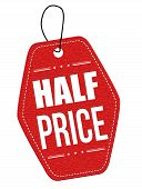 Half Price Red Leather Label Or Price Tag