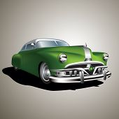 picture of 1950s style  - Old vintage car isolated on background - JPG