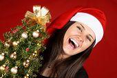 Santa Claus Girl Laughing