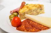 Slice Of Quicke And Antipasti