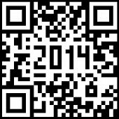2014 New Year counter, QR code vector.