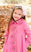Autumn Portrait Of Adorable Smiling Little Girl