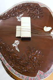 image of shankar  - Sitar a string Traditional Indian musical instrument close - JPG
