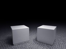picture of plinth  - Empty Plinths to place your product - JPG