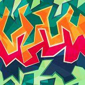 Colored Graffiti Seamless Pattern